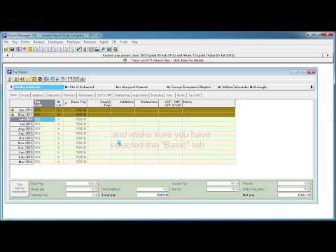 Changing employee tax code in Payroll Manager