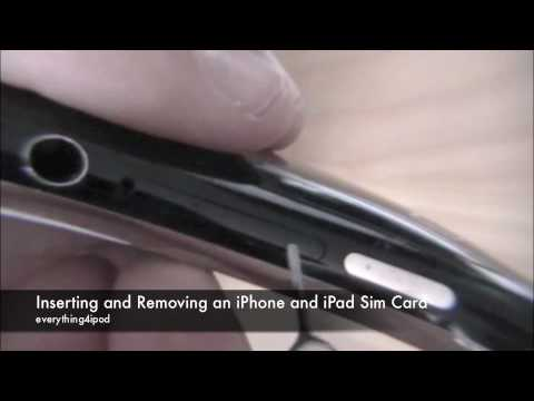 How to Remove and Insert iPhone & iPad Sim Card
