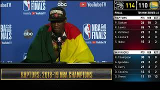 Pascal Siakam Press Conference   NBA Finals Game 6