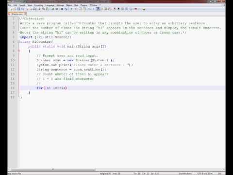 Exercise 2 Week 3 - Java Tutorials For Loop Substring Scanner Corrupt Class