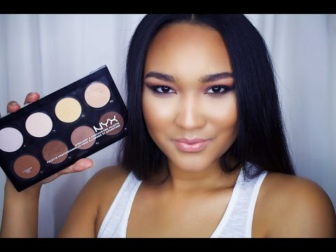 Nyx Cosmetics Highlight & Contour Pro Kit Review & Demo
