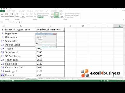 How to Protect a Workbook with a Password in Excel 2013