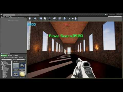 Unreal Engine 4 Udemy Project Shooting Gallery Game
