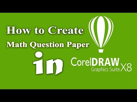 How to create math equation and  question paper in corel draw