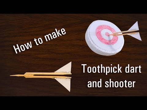 How to make powerful toothpick shooter