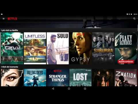Netflix tablet version, navigation and downloads on Shield Android TV