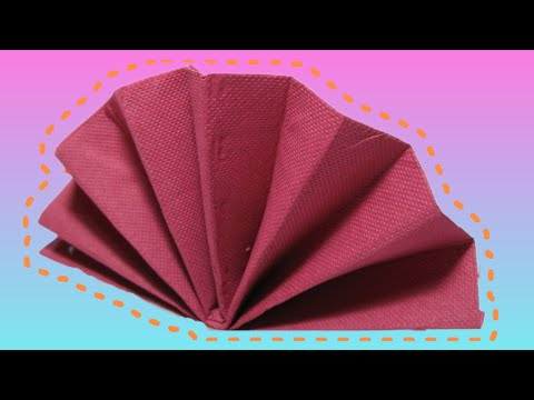 Table Decoration: Standing Fan Napkin Fold Tutorial