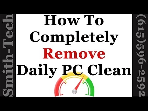 How To Remove The Daily PC Clean Utility From Windows 7, 8 and 10