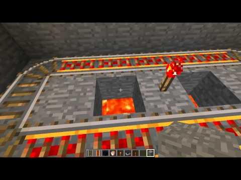Minecraft Traps #12 - Minecart Suffocation
