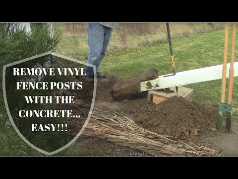 Remove Vinyl Fence Posts WITH Concrete! SUPER EASY!