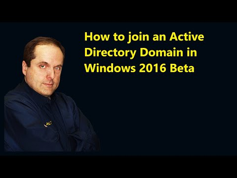 How to join an Active Directory Domain in Windows 2016 Beta