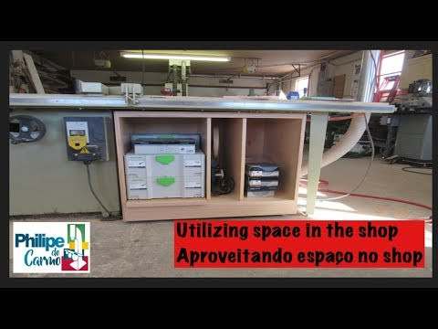 Utilizing space in the shop