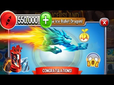Dragon City - Ice Bullet Dragon [Fire & Ice Island | Completed 2018]