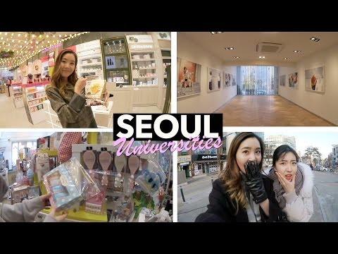 Walking Around Korean Universities: Ewha, Sinchon, and Hongdae