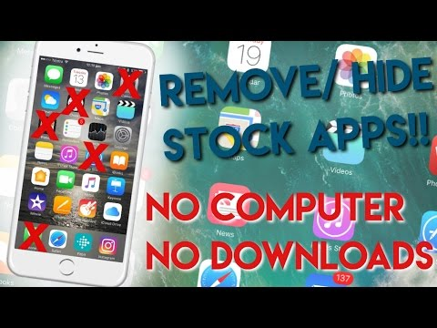 iOS: How to remove Stock/Unremoveable Apps (Health, Wallet etc.) [NO COMPUTER OR JAILBREAK]
