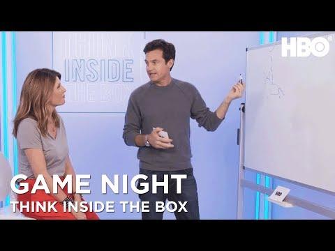 Game Night (2018 Movie) Stars Sharon Horgan & Jason Bateman Play Pictionary | HBO