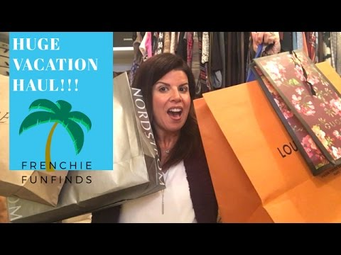 HUGE Vacation Haul!! Louis Vuitton, Gucci, Nordstrom and more!! | Frenchie FunFinds