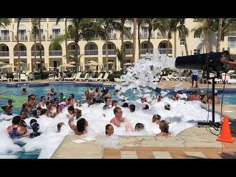 Riu Palace Cabo San Lucas - CRAZY FOAM PARTY! AWESOME RESORT!