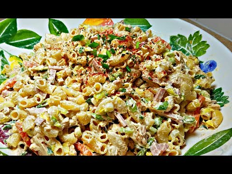 MACARONI SALAD RECIPE |  Creamy Cold Pasta Salad | Tuna Macaroni Salad Recipe