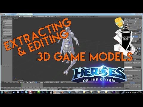 Extracting 3d models for Templates - Heroes (Hots) edition (outdated but blender part usefull)