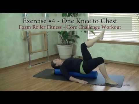Foam Roller Exercises: 1 Knee Lift Exercise for Core Stability Training