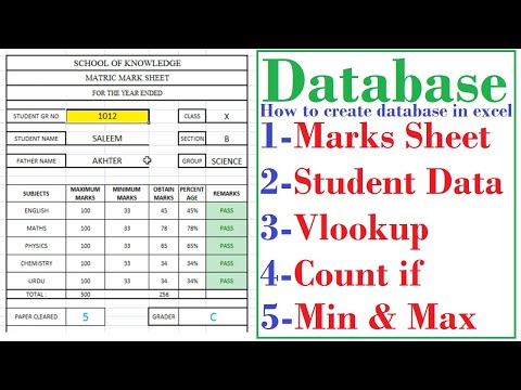 STUDENTS DATABASE IN EXCEL, HOW TO  SEARCH DATA LIKE USER FORM