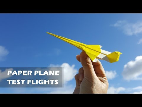 PAPER PLANE TEST FLIGHTS - What is the best name for this origami jet?