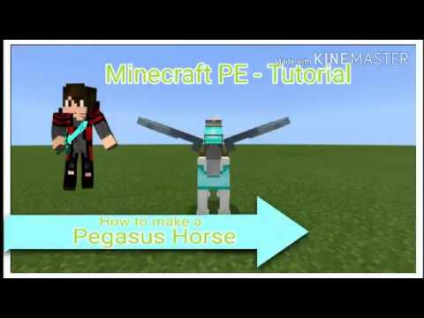 Minecraft PE - How to make a Pegasus Horse NO MODS & ADD-ON | Tutorial MCPE