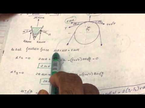How to find Tension in V Belt in Theory of Machines : engineering lectures