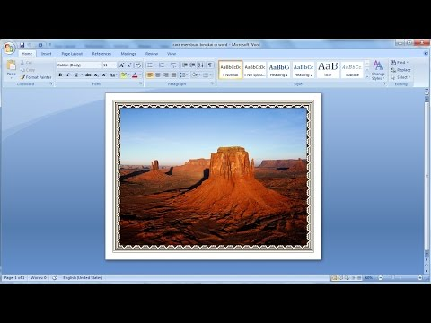 Microsoft word tutorial | How to add a border the picture.