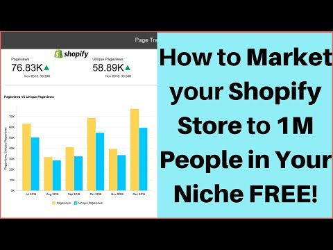 How to Market your Shopify Store to 1M People in Your Niche FREE 📈
