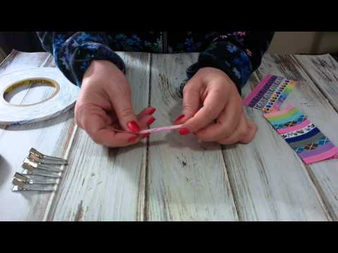 How to Ribbon Line an Alligator Clip with Triple Duty Double Sided Tape