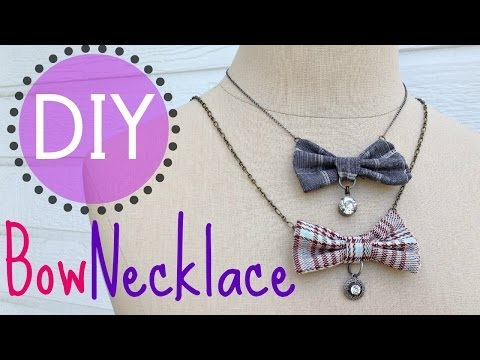 DIY Bow Necklace (EASY) | by Michele Baratta