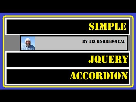Simple jQuery accordion example