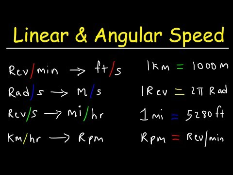 Linear Speed and Angular Velocity