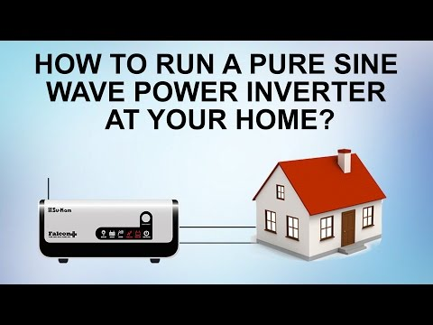 How to run a Pure Sine Wave power inverter at your home? Su-Kam Falcon Plus