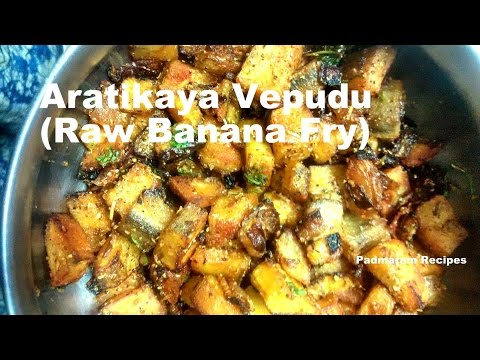 Raw Banana Fry Andhra Style  || Aratikaya Vepudu in Telugu