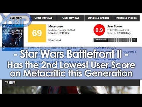 Battlefront 2 Has the 2nd Lowest User Score on Metacritic this Generation