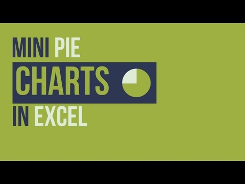 Create a Mini Pie Chart in Excel to Display a % of a Total