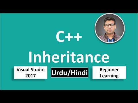 33. C++ in Urdu/Hindi Inheritance Beginners Tutorial vs 2017
