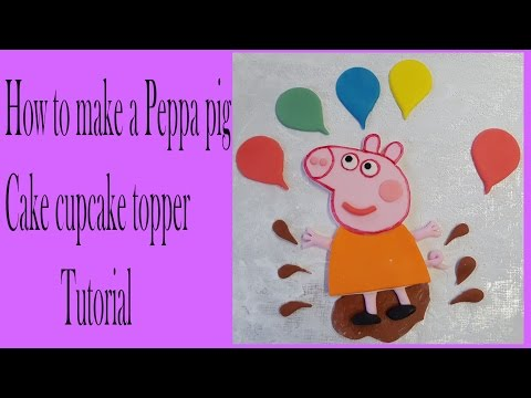 making peppa pig cake topper for a 10