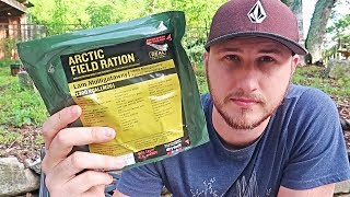 Testing Norwegian Arctic Field Ration (Meal Ready to Eat)