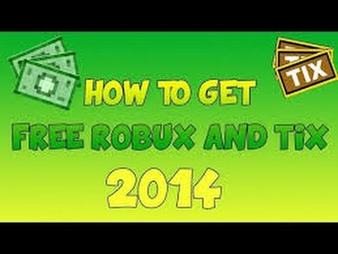 ROBLOX How to:Get free robux and tix 2015 No hacks!