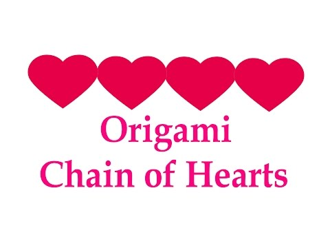 How to make Origami Chain of Hearts ( very easy ) : DIY Crafts