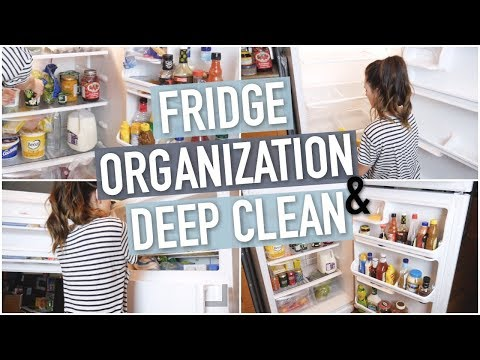DEEP CLEAN AND ORGANIZE WITH ME! || FRIDGE DECLUTTER 2018 || SPRING CLEANING EPISODE 1