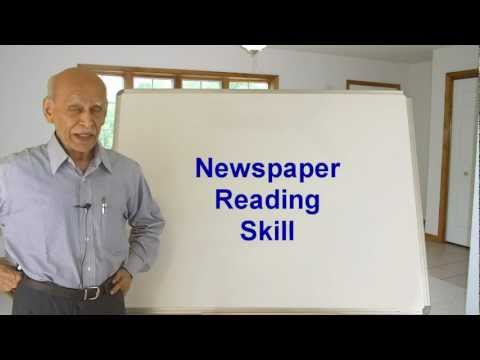 Dr. N.H. Atthreya: Newspaper Reading Skill