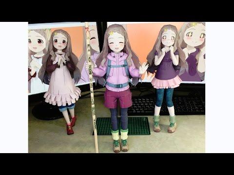 Papercraft : anime  < Encouragement of climb. > Kokona-chan
