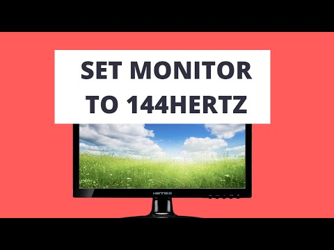 How to Change Monitor Refresh Rate to 144Hz