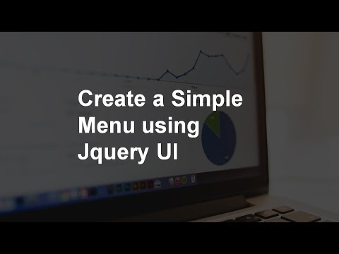 Create a Simple Menu using Jquery UI