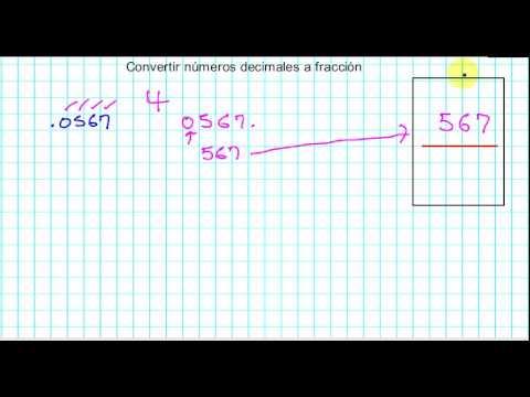 Convertir de Decimal a Fracción
